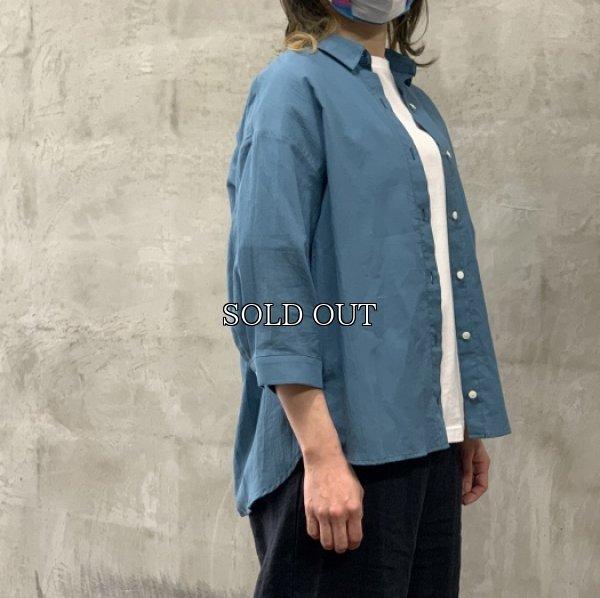 画像1: [cocora]シャツ・ブラウス 後ろタック七分袖シャツ (1)