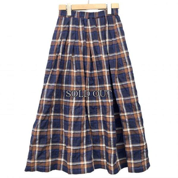 画像1: [cocora]スカート チェックロングスカート (1)