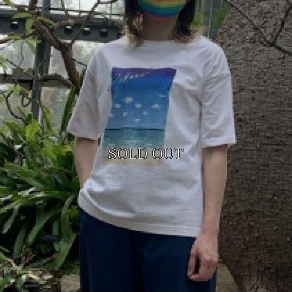 画像1: [cocora]トップス・Tシャツ 風景柄ワイドTシャツ (1)