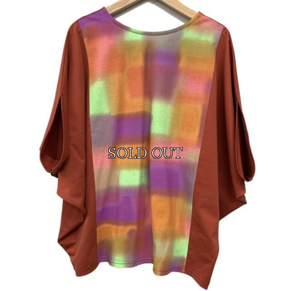 画像1: [cocora]トップス・Tシャツ 2WAYドルマンカラフルTシャツ (1)