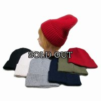 リブ編みのニット帽