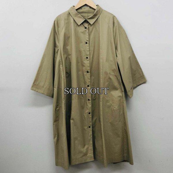 画像1: [cocora]コート 七分袖 シャツコート (1)